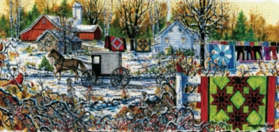 Winter Morning - 1000pc Panoramic Jigsaw Puzzle by Sunsout
