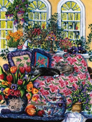 Lazy Cats - 500pc Jigsaw Puzzle by Sunsout