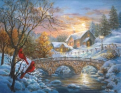 Winter Sunset - 1500pc Sunsout Jigsaw Puzzle