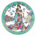 Butterfly Maiden - 500pc Round Jigsaw Puzzle by Sunsout