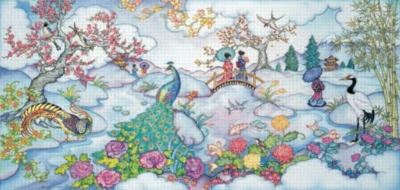 Peacock Bridge - 1000pc Panoramic Jigsaw Puzzle by Sunsout