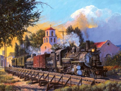The Chili Line at Santa Fe - 500pc Jigsaw Puzzle by Sunsout