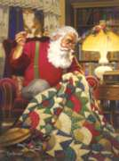 Jigsaw Puzzles - Quilting Santa
