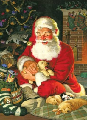 Sleepytime Santa - 500pc Jigsaw Puzzle by Sunsout