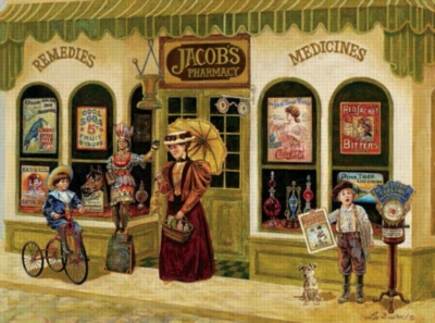 Jacob's Pharmacy - 1000pc Jigsaw Puzzle by Sunsout