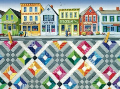 Main Street Quiltscape - 1000pc Jigsaw Puzzle by Sunsout