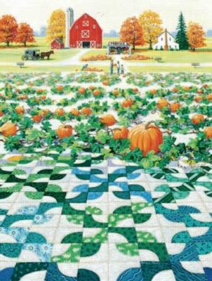 Pumpkin Patch - 300pc Large Format Jigsaw Puzzle by Sunsout