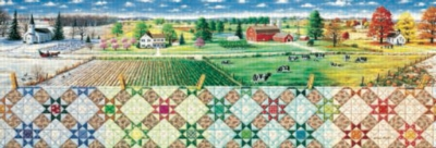Colors of the Seasons - 500pc Panoramic Jigsaw Puzzle by Sunsout