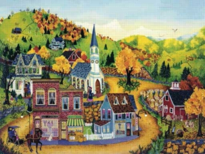 Our Town - 500pc Jigsaw Puzzle by Sunsout