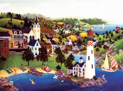 Lighthouse Beach - 1000pc Jigsaw Puzzle by Sunsout