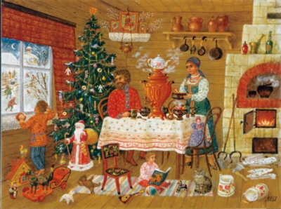 Christmas Tradition - 1000pc Jigsaw Puzzle by Sunsout
