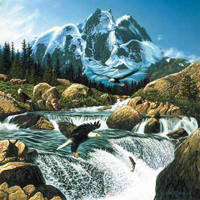 Fishing at Eagle Rock - 1000pc Jigsaw Puzzle by Sunsout
