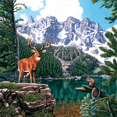 Emerald Lake - 500pc Jigsaw Puzzle by Sunsout
