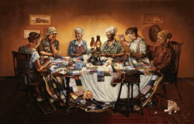 The Gossip Circle - 1000pc Jigsaw Puzzle by Sunsout