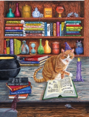 Magic Cat Spells - 1000pc Jigsaw Puzzle by Sunsout