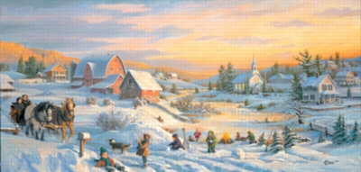 Winter Reflections - 1000pc Panoramic Jigsaw Puzzle by Sunsout