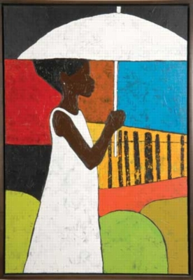 The White Umbrella - 500pc Jigsaw Puzzle by Sunsout
