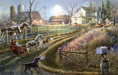 Pony Express - 1000pc Jigsaw Puzzle by Sunsout