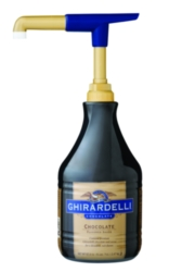 Ghirardelli Black Label Chocolate Sauce - 64 fl. oz. Bottle Case