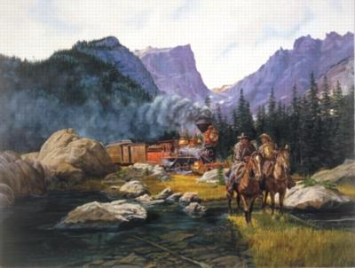 Cowboys & Trains - 500pc Jigsaw Puzzle by Sunsout