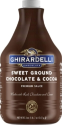 Ghirardelli Sweet Ground Chocolate Sauce - 64 fl. oz. Bottle Case