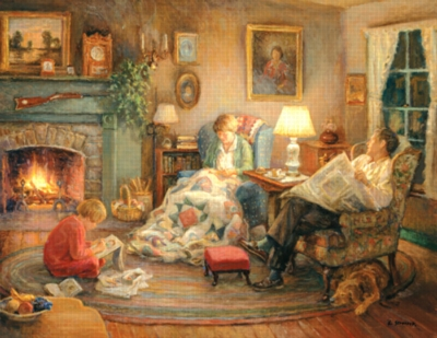 Family Circle - 1000pc Large Format Jigsaw Puzzle by Sunsout
