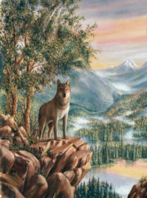 Wolf Grandeur - 1000pc Jigsaw Puzzle by Sunsout