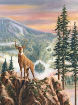 Deer Grandeur - 1000pc Jigsaw Puzzle by Sunsout