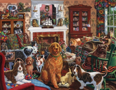 Pooch Party - 1000pc Jigsaw Puzzle by Sunsout