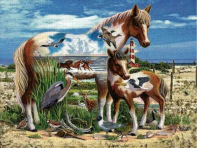 Free Spirits of the Coast - 300pc Large Format Jigsaw Puzzle by Sunsout