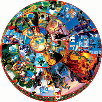 Down The Rabbit Hole - 1000pc Sunsout Round Jigsaw Puzzle
