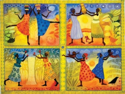 Women of Africa - 500pc Jigsaw Puzzle by Sunsout