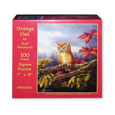 Orange Owl - 500pc Jigsaw Puzzle by Sunsout