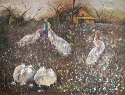 Annie Lee: Picking Cotton - 500pc Jigsaw Puzzle by Sunsout