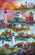 Gallery Of Lighthouses - 1000pc Sunsout Jigsaw Puzzle