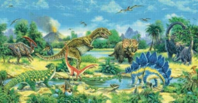 The Watering Hole - 300pc Large Format Panoramic Jigsaw Puzzle by Sunsout