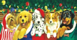 Christmas Puzzles - Stocking Puppies