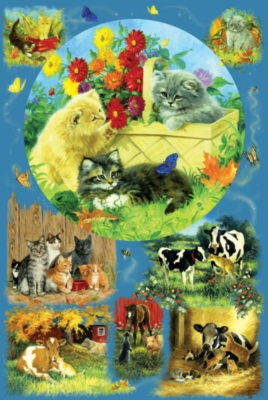 Jigsaw Puzzles - Country Kittens