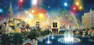City of Lights: Las Vegas - 1000pc Panoramic Jigsaw Puzzle by Sunsout