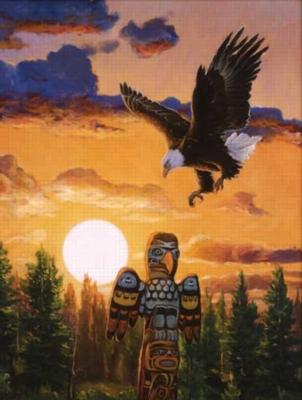 Native Landing - 500pc Jigsaw Puzzle by Sunsout