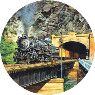 Harper's Ferry - 500pc Sunsout Round Jigsaw Puzzle