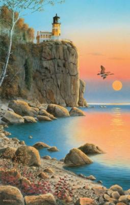 Split Rock Lighthouse - 1000pc Jigsaw Puzzle by Sunsout