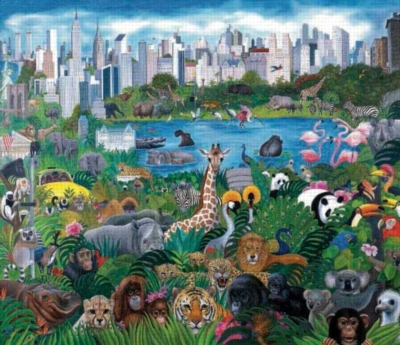 Its a Jungle Out There - 550pc Jigsaw Puzzle by Sunsout