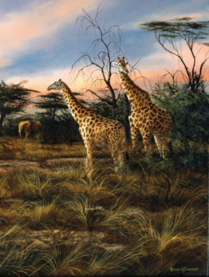 Jigsaw Puzzles - Giraffes At The Watering Hole