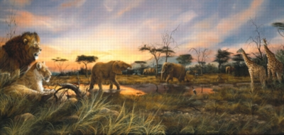 Sunset at the Watering Hole - 1000pc Jigsaw Puzzle by Sunsout