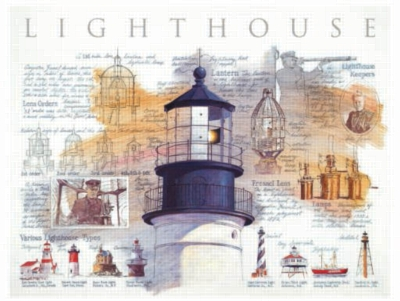 Lighthouse Diagram - 500pc Jigsaw Puzzle by Sunsout