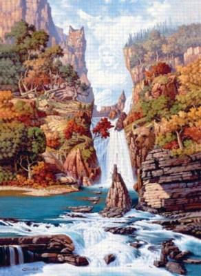 Phantom Of The Falls - 1500pc Sunsout Jigsaw Puzzle