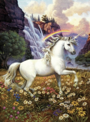 Unicorns' Rainbow Valley - 1000pc Jigsaw Puzzle by Sunsout