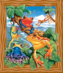 Jigsaw Puzzles for Kids - Frogs