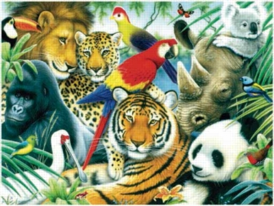 Animal Kingdom - 300pc Large Format Jigsaw Puzzle by Sunsout